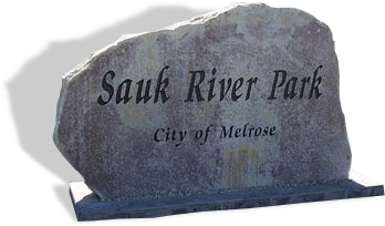 Granite Boulder for Sauk River Park of Melrose, MN